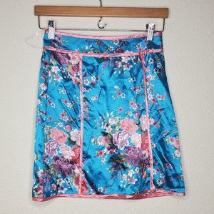 Pretty Little Thing Turquoise Pink Floral Skirt